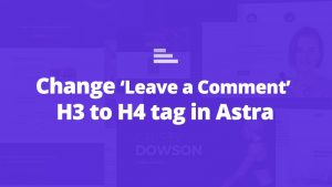 astra leave comment h3 h4 title tag