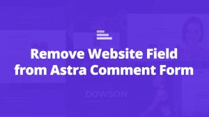 astra remove website field comment form