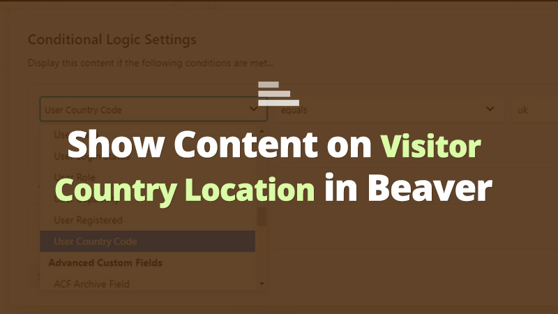 beaver visitors country location conditionals