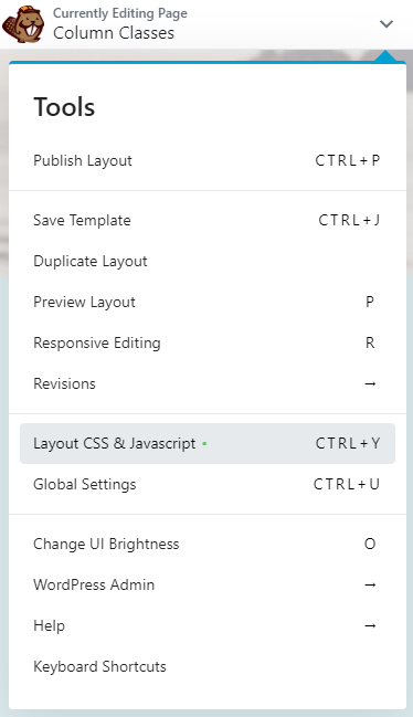 Layout CSS and JavaScript