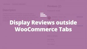 woocommerce sperate reviews tabs